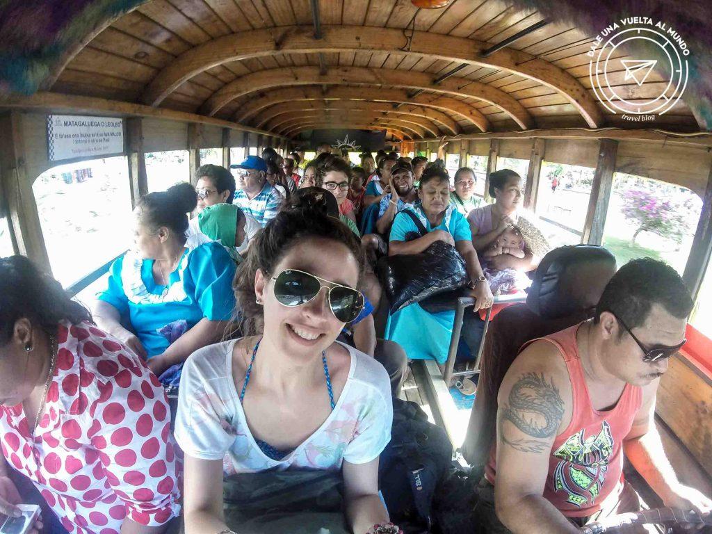 wooden bus samoa gopro