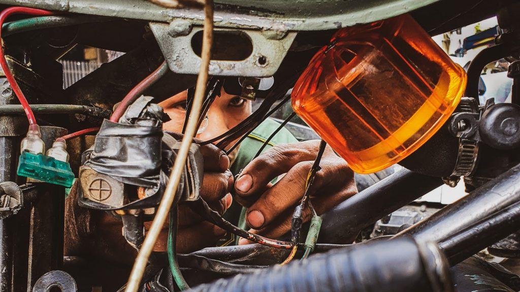 Mecánico de Motos en Vietnam